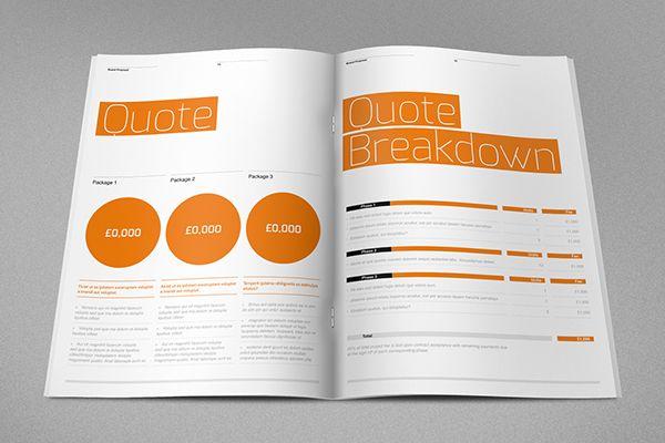 Agency Proposal Template on Behance Design Pinterest Proposal