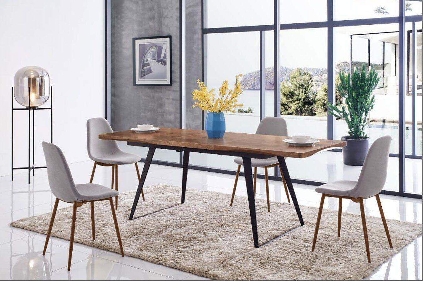 European 93 Extension Dining Room Set | Dining room sets, Dining table, Italian furniture modern
