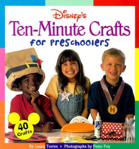 Disney's Ten-Minute Crafts for Preschoolers by Laura Torres  http://www.amazon.com/dp/0786843535/ref=cm_sw_r_pi_dp_w3Kfub04Q4BY7