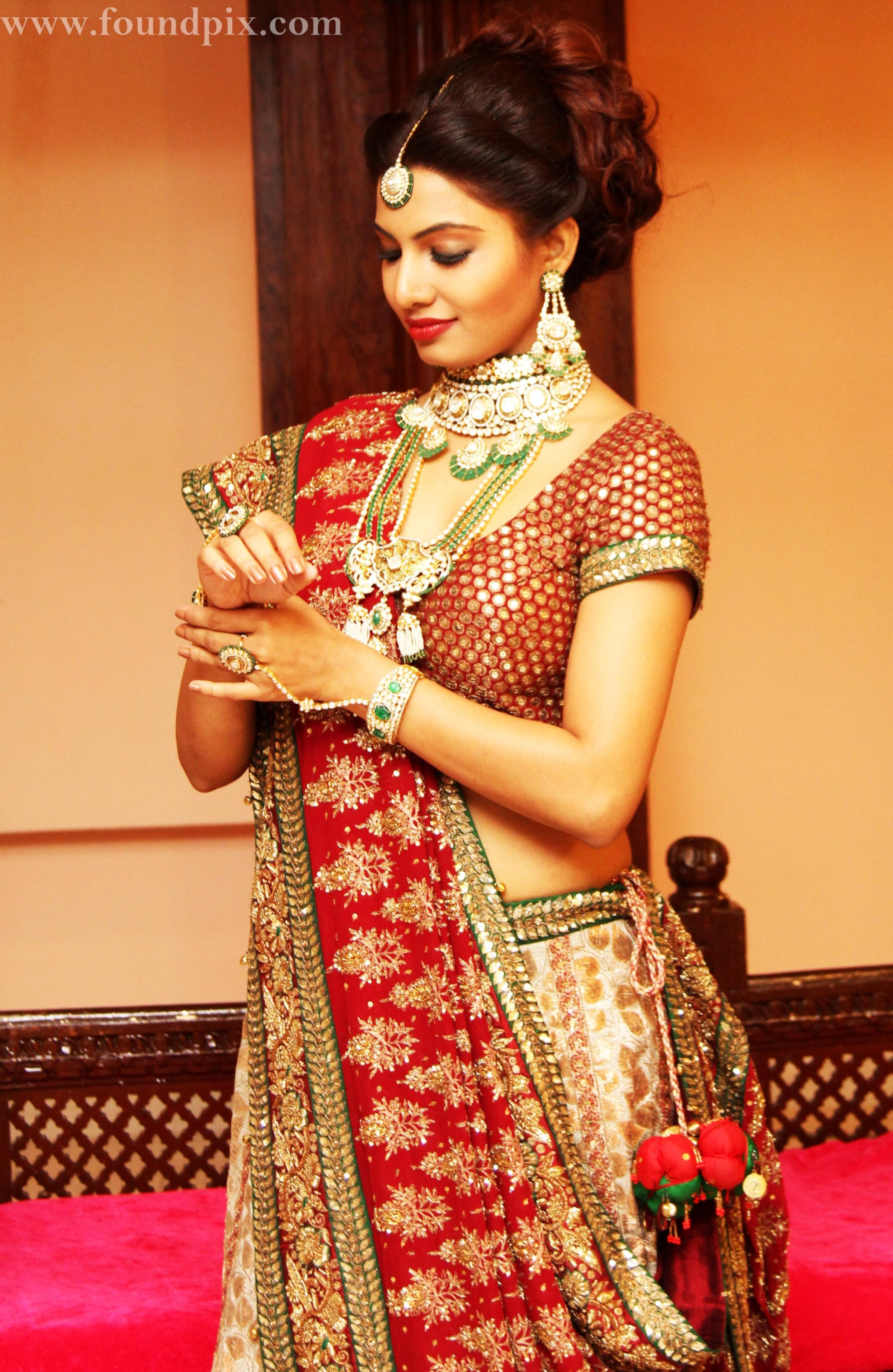 Red Green Bridal Lehenga Collection Design Wallpapers c