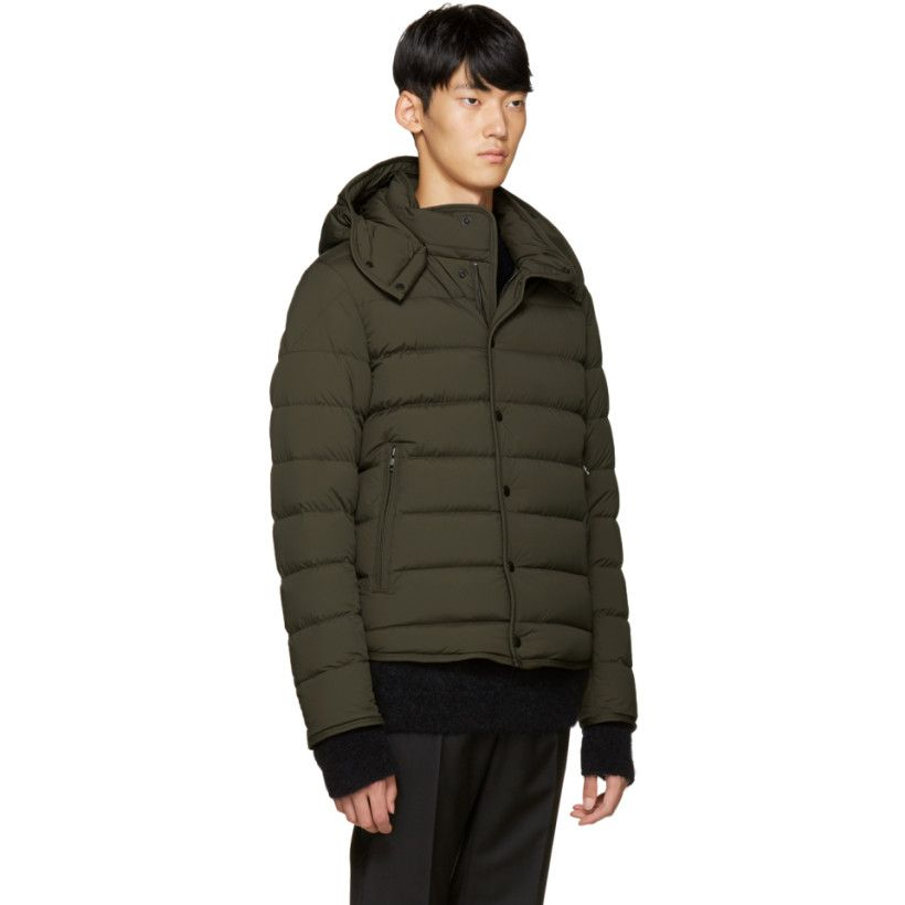 moncler green coat
