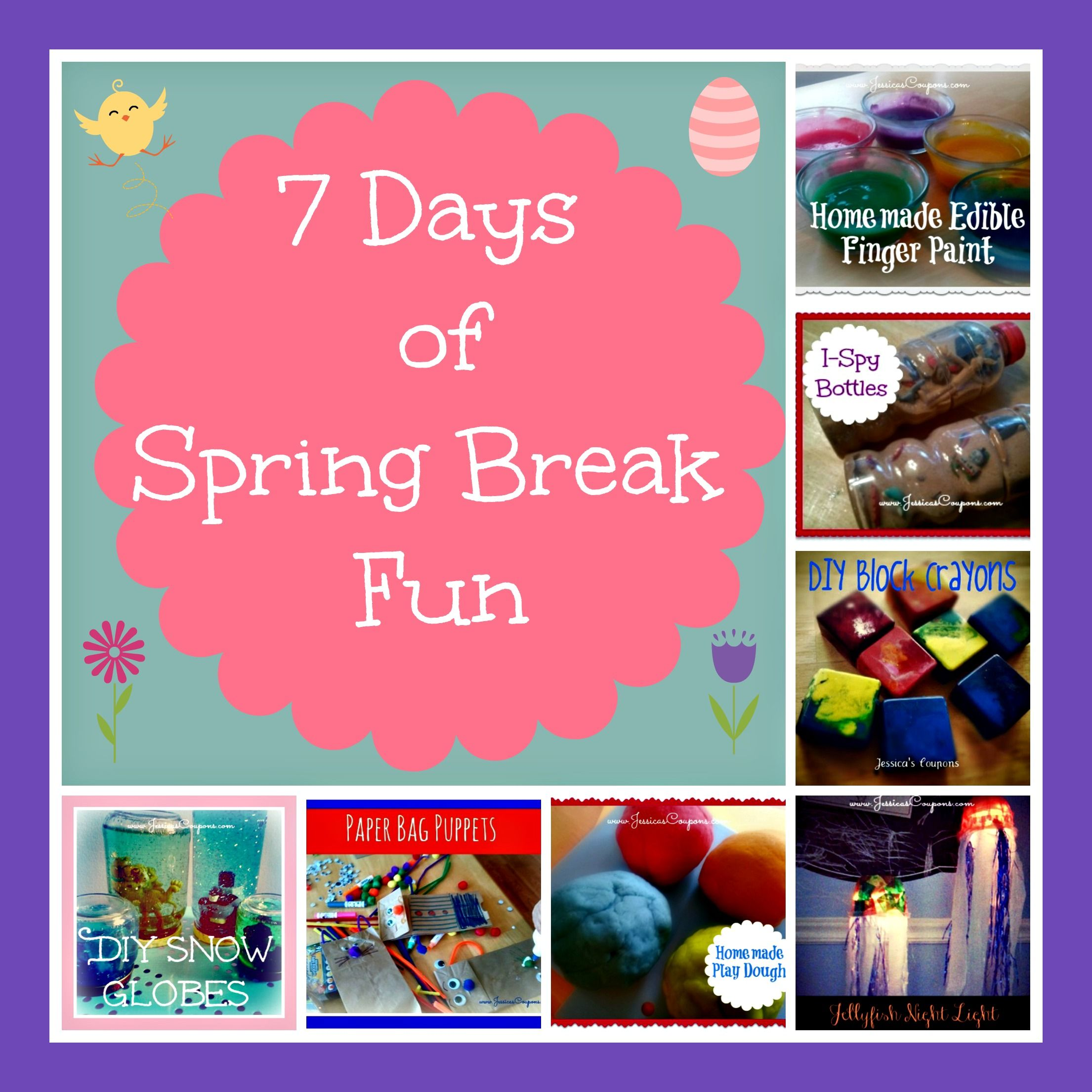 7 Days Of Spring Break Fun Crafts Amp Projects For The Kids