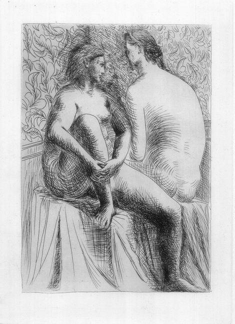 Pablo Picasso, Deux Femme Nues -1930 on ArtStack #pablo-picasso #art