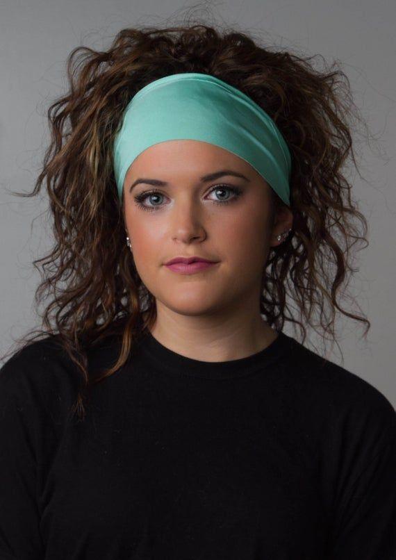 Wide Yoga Headband - No Slip Headband- Moisture Wicking Non Slip Fitness Workout Yoga Headband - Min #yogaheadband
