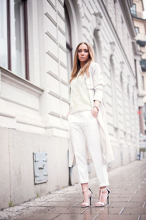 30 Outfits That Will Make You Want a White Coat | StyleCaster