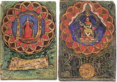 Cunizza da Romano e Sordello da Goito in una miniatura del XV sec ...