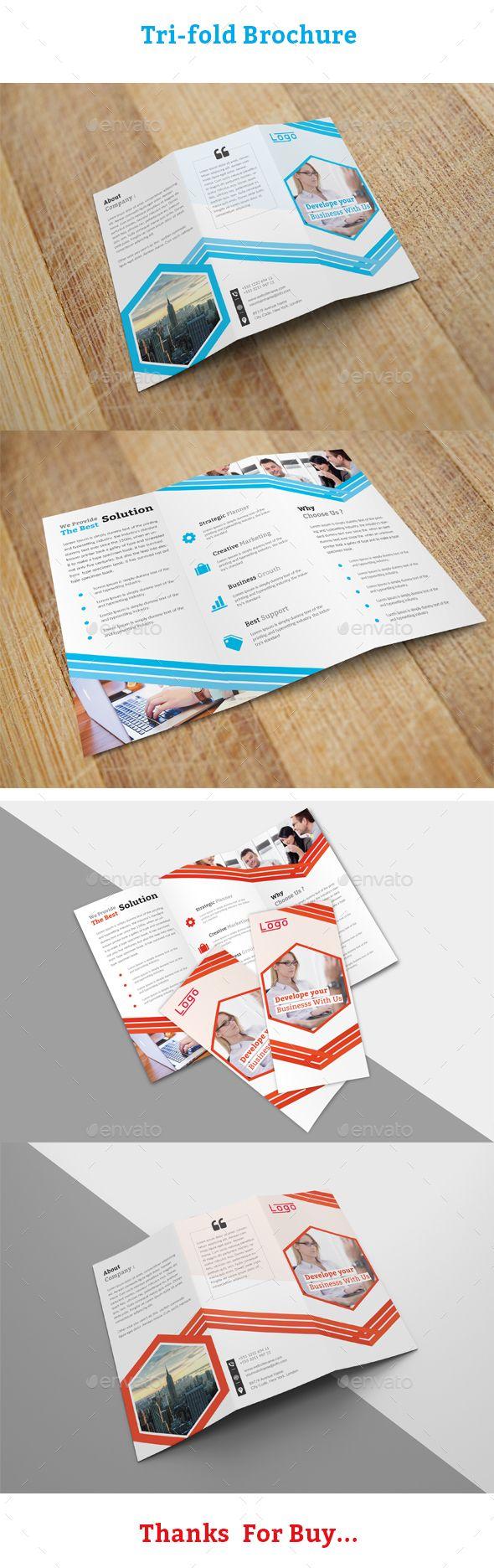 Trifold Brochure Template Tri Fold Brochure Corporate Business