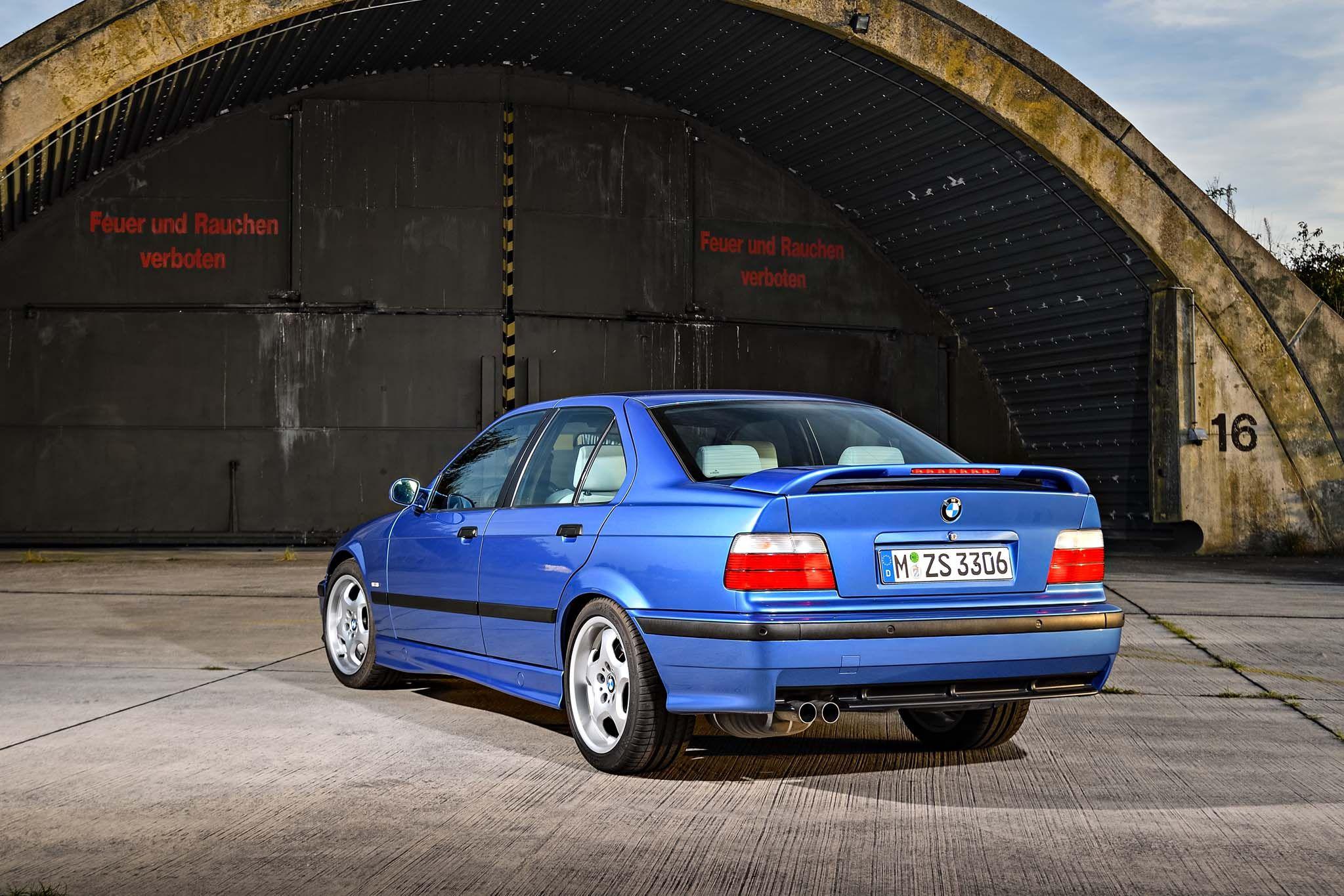 BMW E36 M3 Sedan MPower Badass Burn Provocative Eyes y