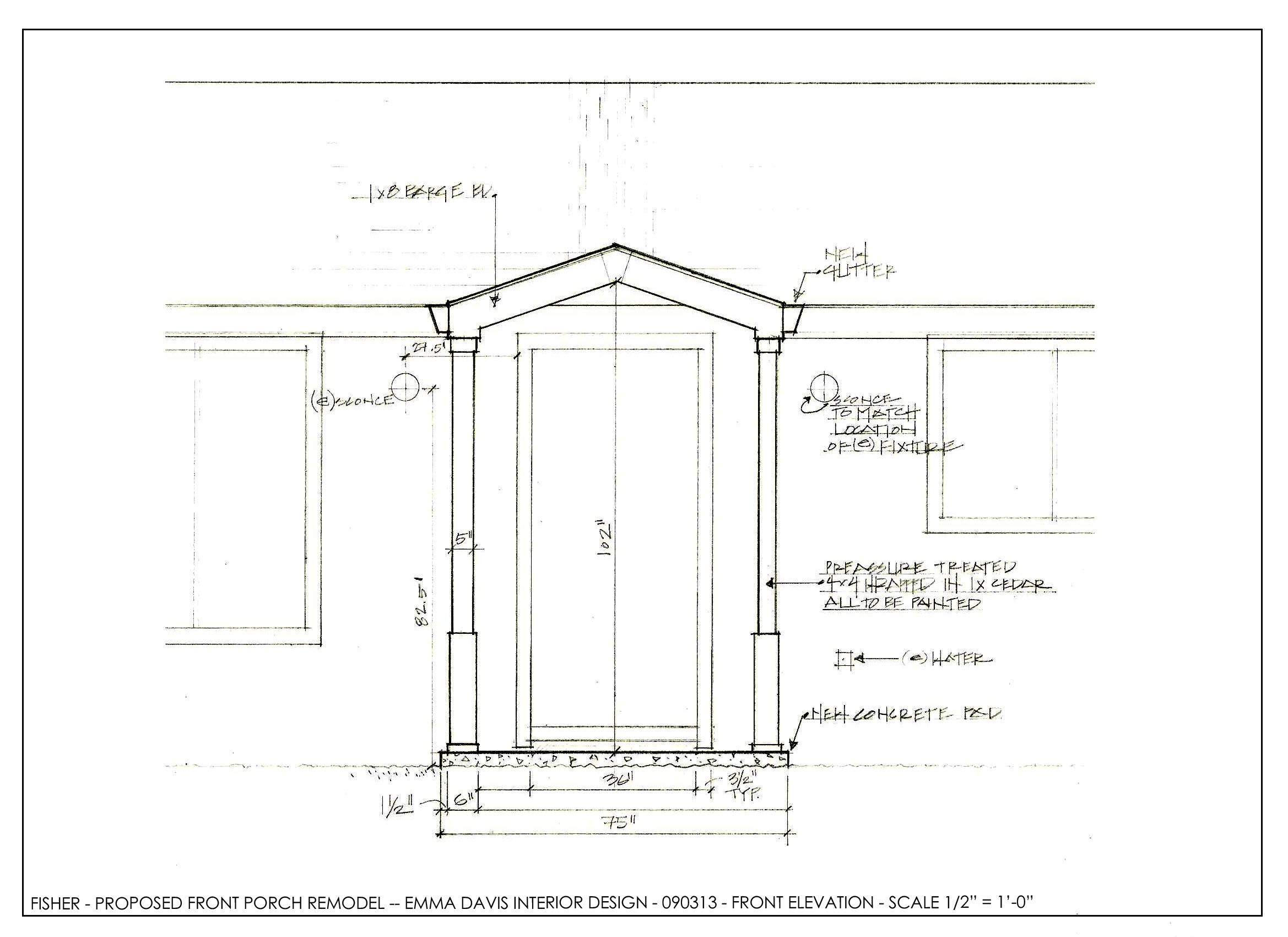 Front Porch Extension Concept Drawing Porch Roof Design Porch Extension Porch Remodel