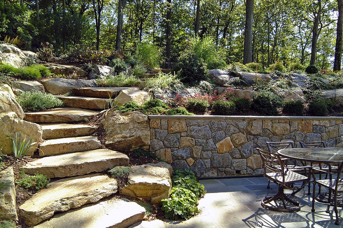 natural boulder step creations femia landscaping cape cod