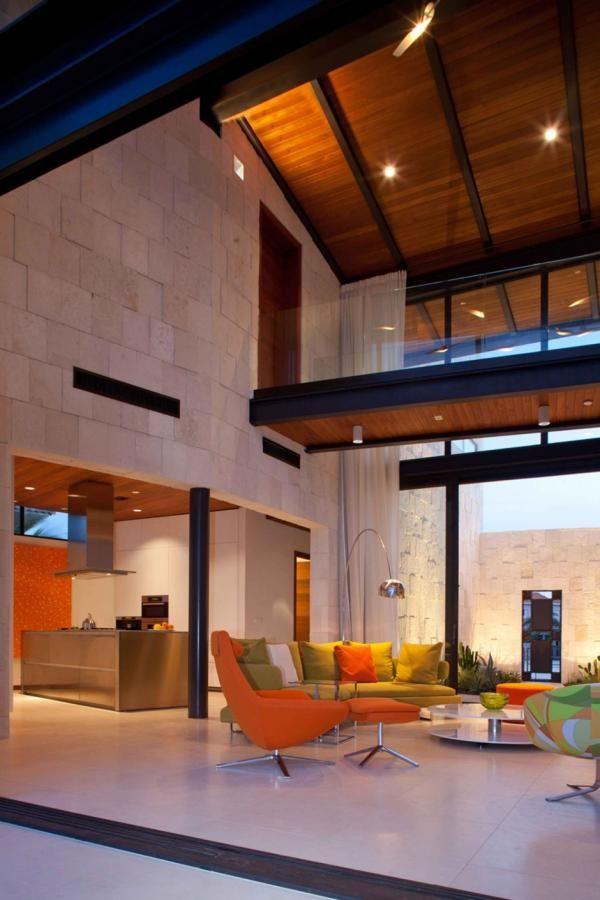 Kitchen Living Room Skywalk Interior Architecture Design