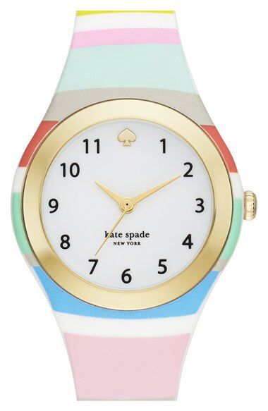 kate spade new york kate spade new york 'rumsey' plastic strap watch, 30mm available at #Nordstrom