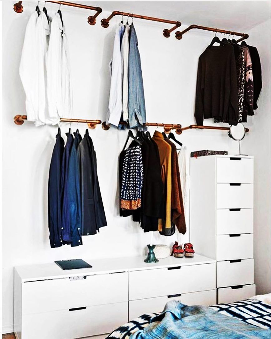 open concept wardrobes are the best solution for small