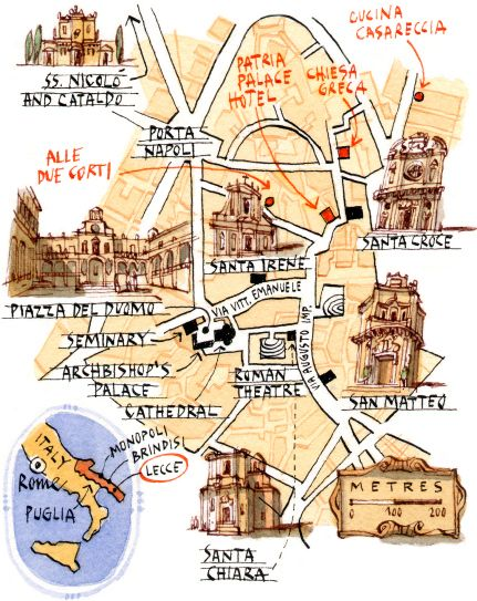 Michele Tranquillini Map of Lecce BIKE ITALY southern