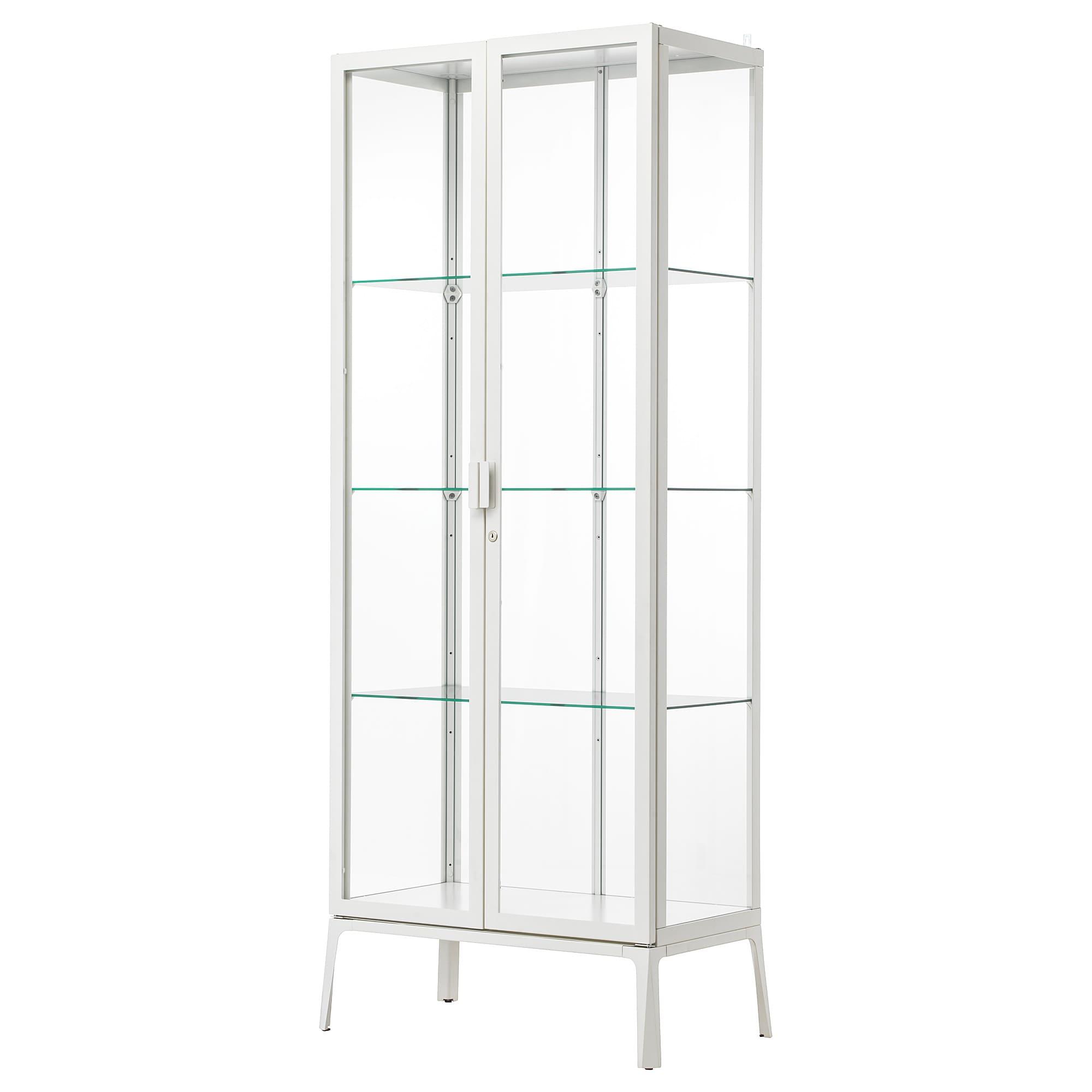 IKEA MILSBO White Glass-door Cabinet