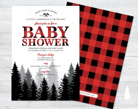 Fresh Lumberjack Baby Shower Decorations