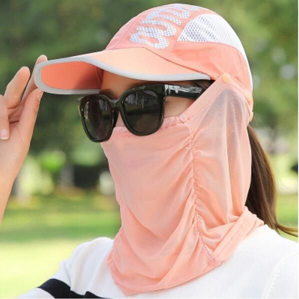 Fishing Hat With Removable Neck & Face Flap