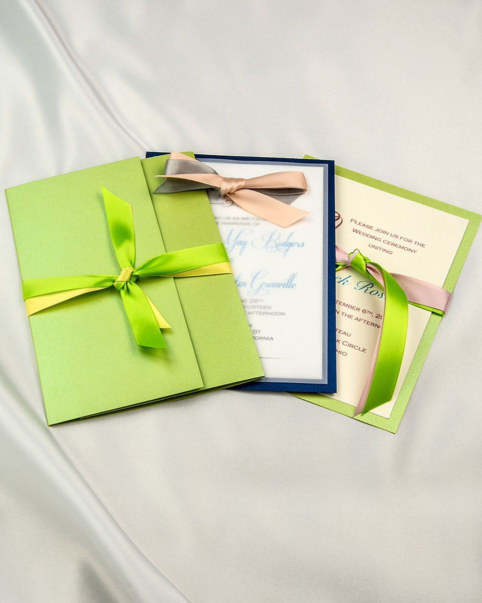 Layered Bordered And Pocket Folder Options Diy Invitations Party