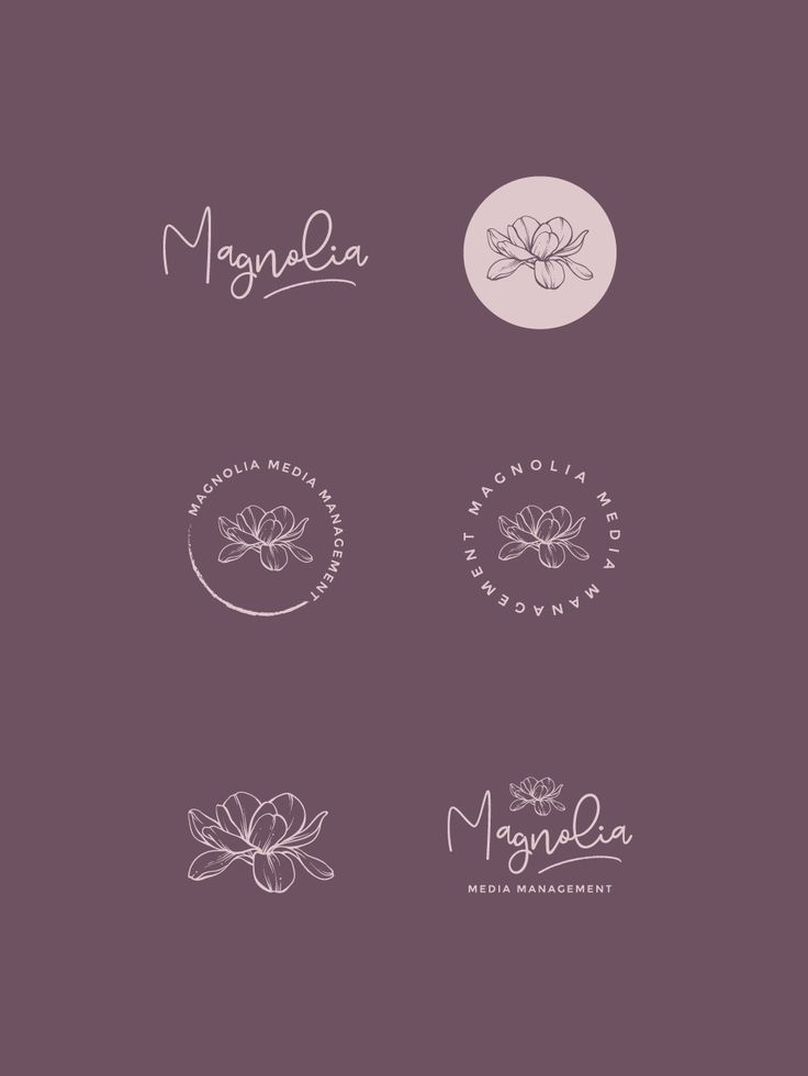 management variation magnolia creative design is part of Branding design logo, Floral logo design, Logo design inspiration creative, Graphic design logo, Organic logo design, Company logo design - management variation magnolia creative design  management variation magnolia creative design