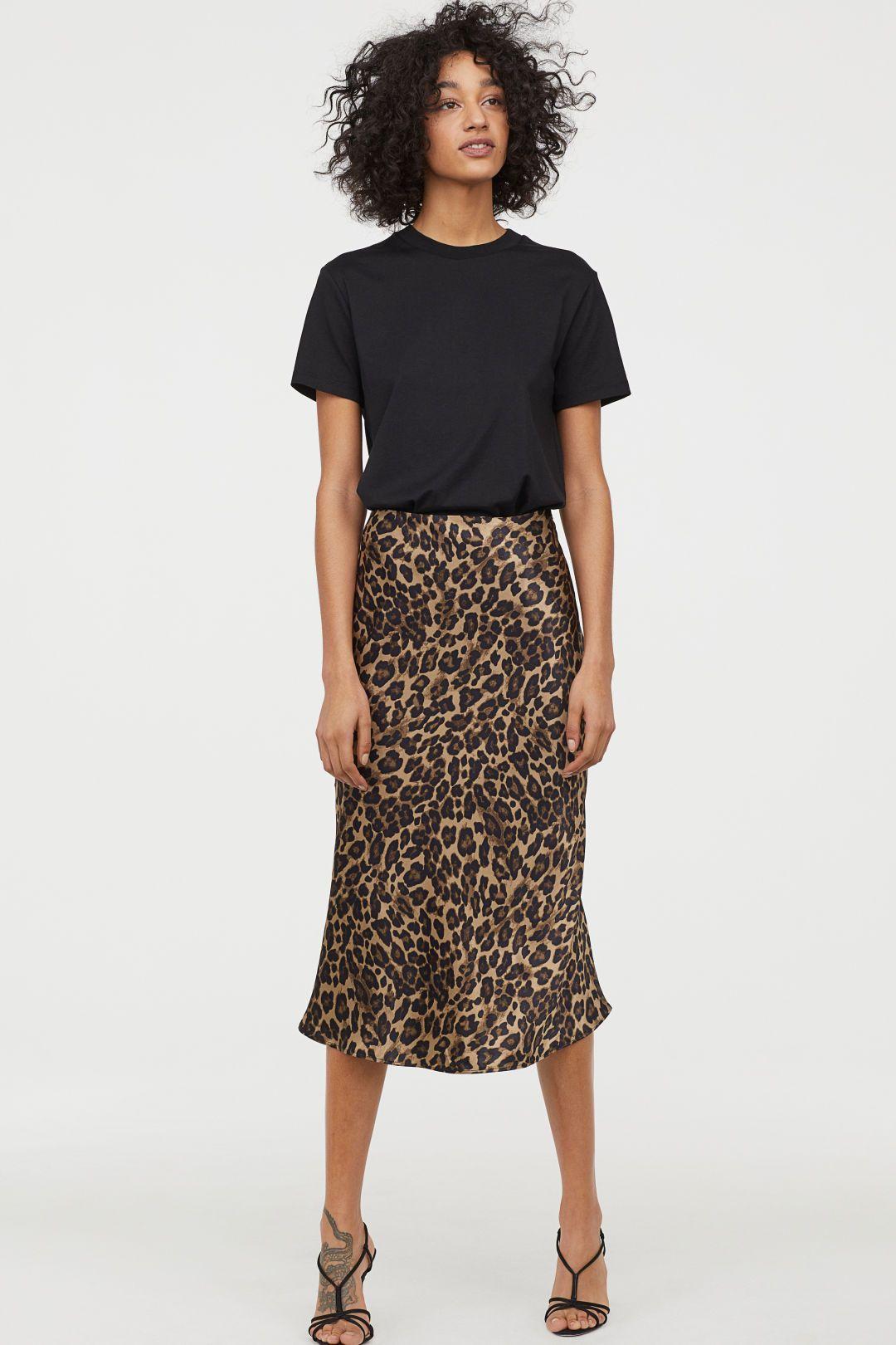 Skirt leopard skirt Leopard skirt skirt