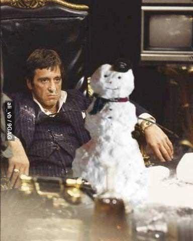 How Scarface Celebrates Christmas ᖇαƞdσm đσρɛηєѕѕ Pinterest