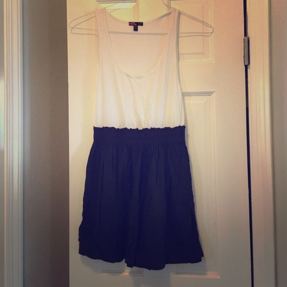 Casual/comfy dress White tank top dress with an olive skirt! Forever 21 Dresses