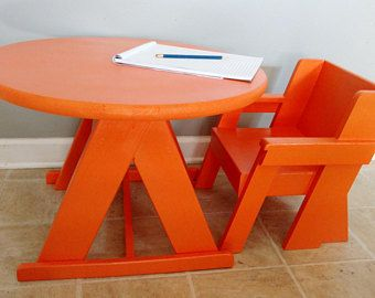 Toddler Table And Chair Set, Childu0027s Table And Chair, Wood Table And Chair,