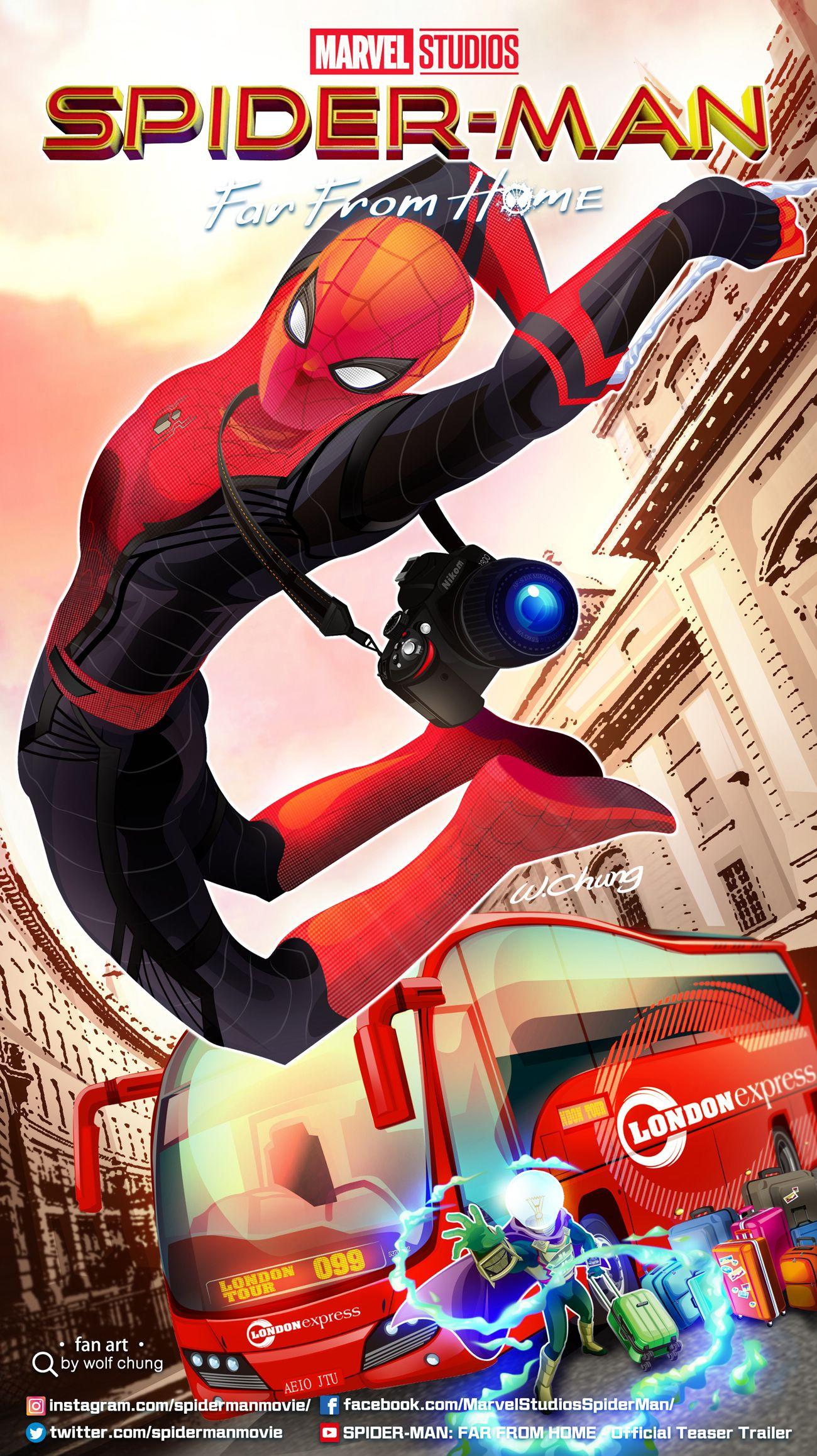 Spiderman Far From HomeSpiderman film 2019om Holland