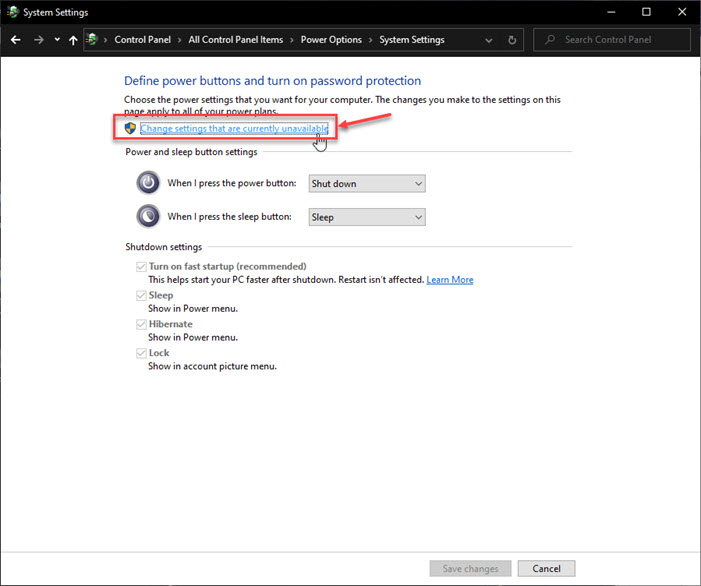How To Enable Hibernate In Windows 10 In 2020 Windows 10 Password Protection Change Settings