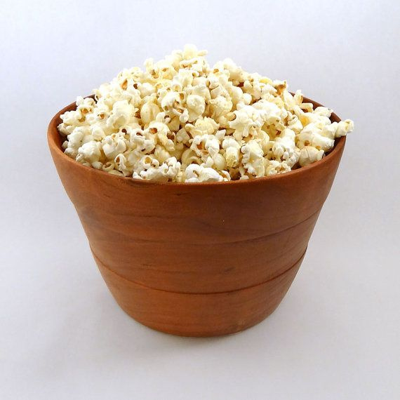 Make movie night a special occasion with this elegant popcorn bowl. This bowl holds a large serving of popcorn for one, or enough for 2.
