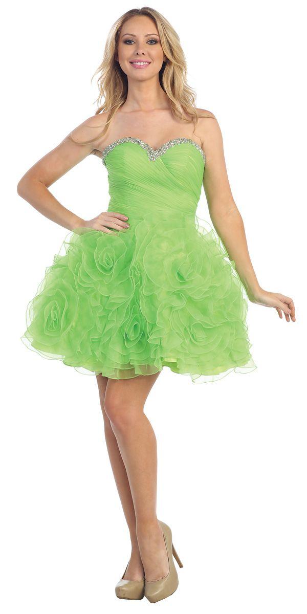 Lime green short cocktail dresses | Best dress ideas | Pinterest ...