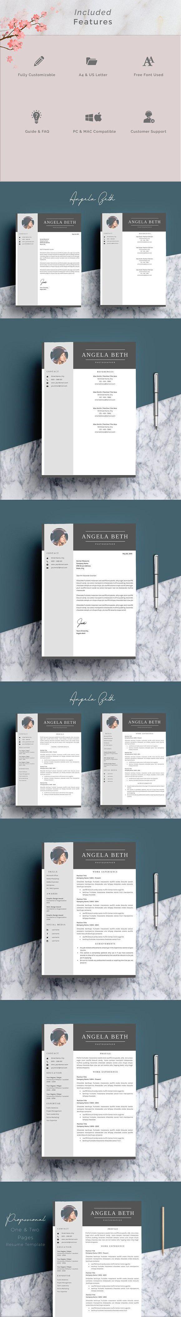 Résumé Templates Amber Resume templates, Creative