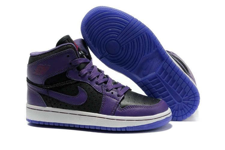 new style 30a22 fab1b Jordans shoes Women   ... Jordans Women    Women Nike Air Jordan 1 AAA  Purple Black White Shoes