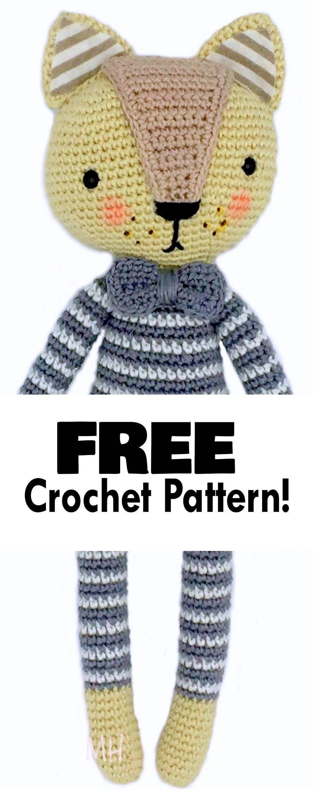 cat amigurumi, cat crochet, cat crochet pattern, cat free crochet ...