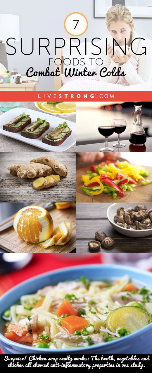 7 Surprising Foods to Combat Winter Colds: Sardines to Mushrooms to Wine + More http://www.livestrong.com/slideshow/1011247-7-surprising-foods-combat-winter-colds