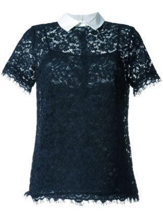 Michael Michael Kors short sleeve lace blouse
