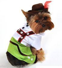 Pet Dog Cat Oktoberfest Lederhosen Xmas Fancy Dress Costume Outfit Clothes XS-XL