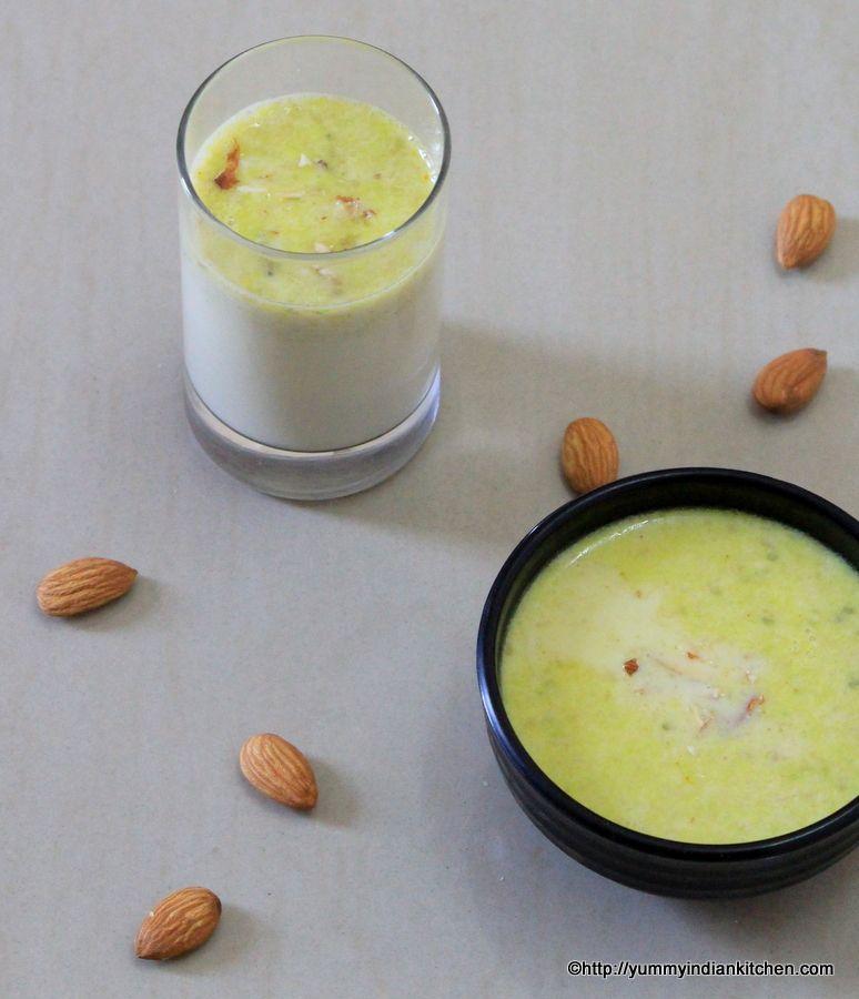 Badam Milk Recipe Homemade Recipe Milk Recipes Badam Milk