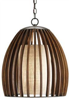Pendant lights over reception desks | Wood pendant light ...