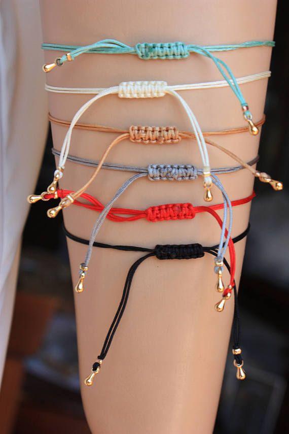 Schöne Farben verstellbare Schnur Armbänder mit Zirkonia Evil Eye t Charme. Charme …   – Pulseras y brazaletesde hombrrs