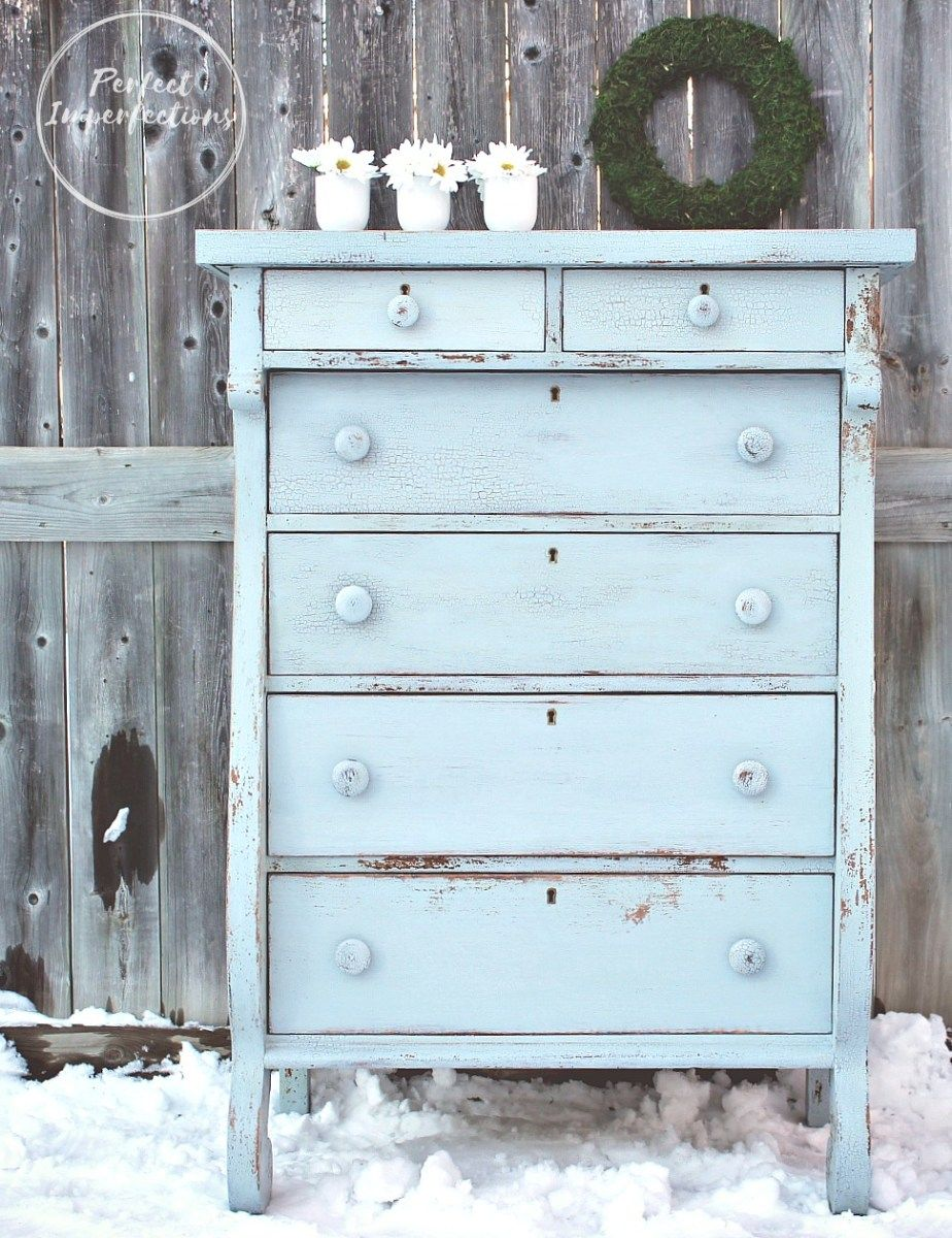 Beautifully painted empire dresser in Slate | Perfect Imperfections ...