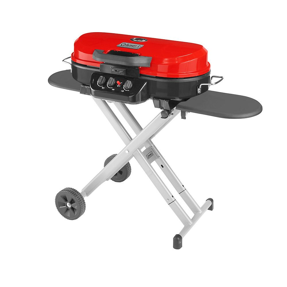 Coleman Roadtrip 285 Portable Stand Up Propane Grill Red - Bbq Temperatuurmeter