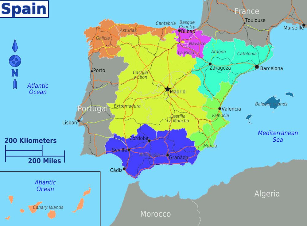 Dividing Spain into 5 regions ✤ Spanish life Pinterest