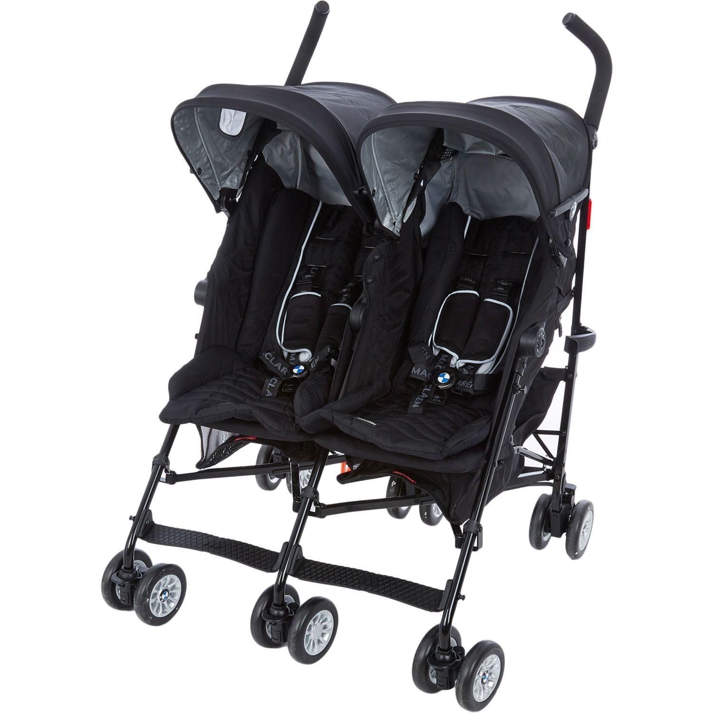Black BMW Twin Pushchair Baby & Nursery Kids & Toys