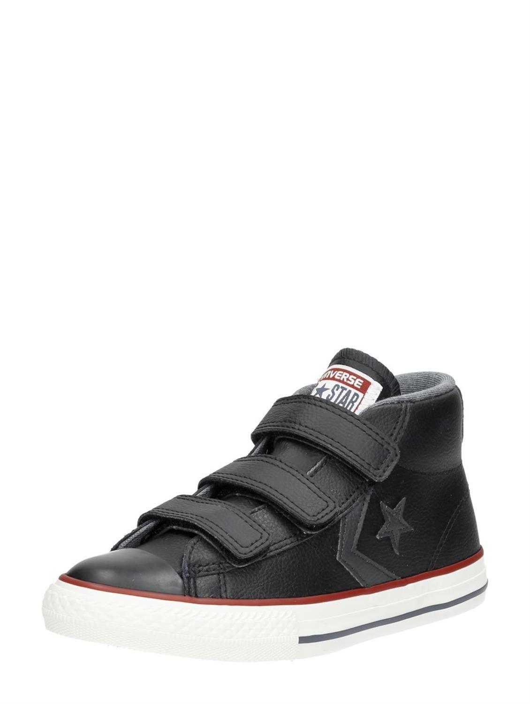 6dd6e4fdd59 Converse Star Player EV 2V hoge jongens sneakers van gladleer en met  klittenband