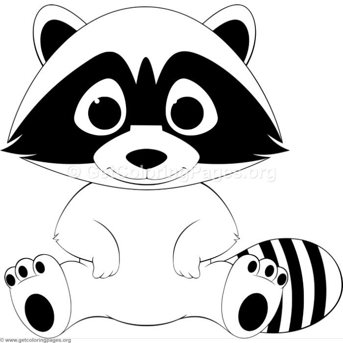 Funny Baby Raccoon Coloring Pages Animal Coloring Pages Drawing For Kids Coloring Pages For Kids
