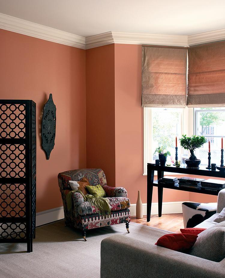peinture 10 couleurs qui seront tendance en 2018 peinture pinterest peinture orange. Black Bedroom Furniture Sets. Home Design Ideas