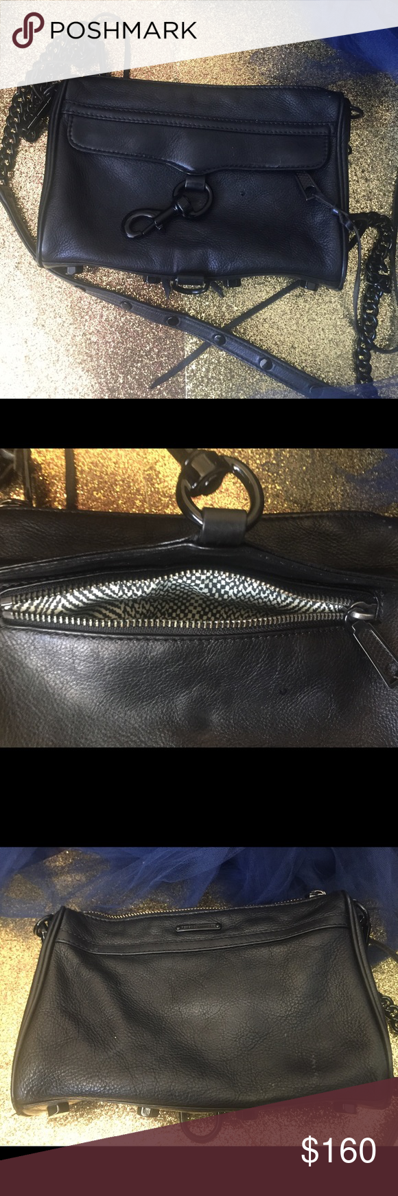 REBECCA MINKOFF RARE Mini MAB Crossbody ALL-BLACK I will let the picture be her waterfall of praise and adulation.  I 💚her still so so much but I m...