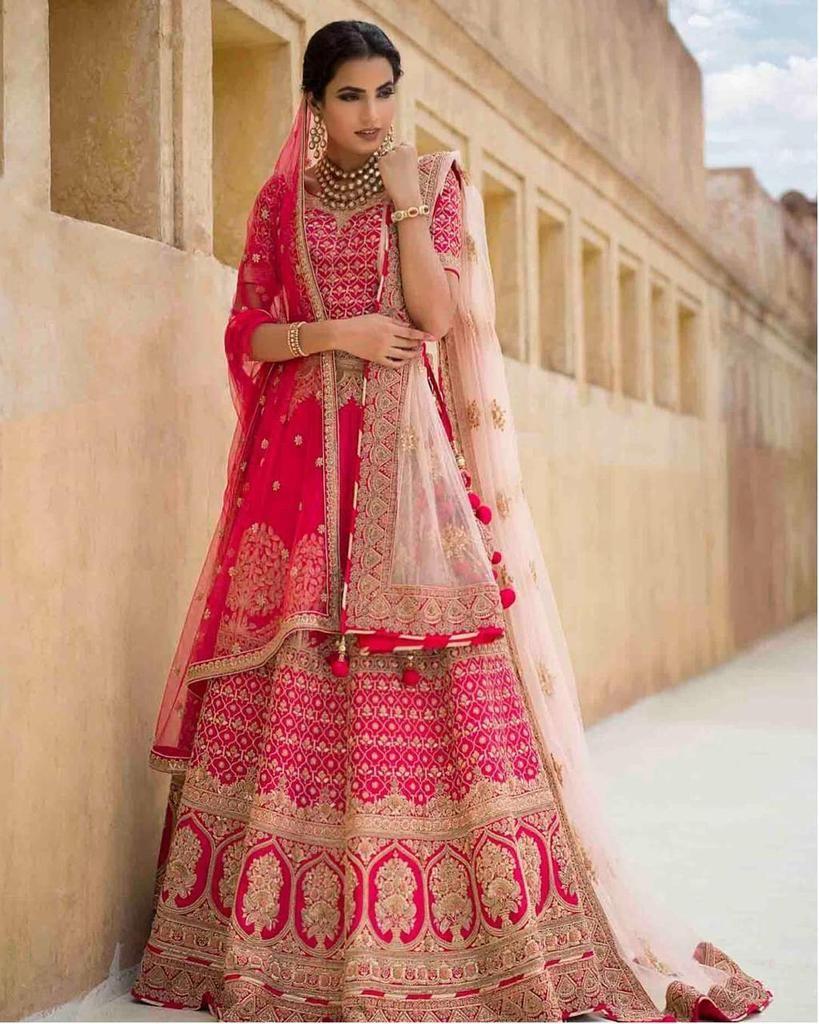 Gulabi pink Bridal Lehanga in 2019   Pink lehenga, Bridal ...