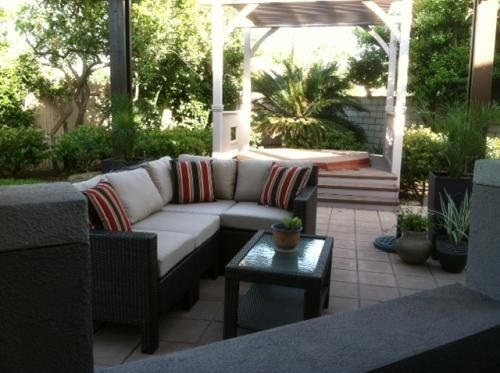 hampton bay beverly 5 piece patio sectional seating set with